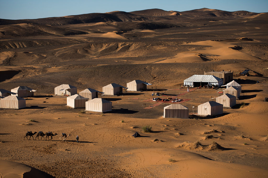 View of Erg Chebbi Camp